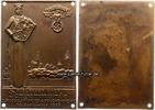 Drittes Reich/Tangermünde  Bronzeplakette/NSKK/Zielfahrt nach Tangermünde/Zur 1000 Jahrfeier & Brückenweihe