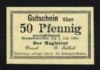 Bischofswerder/deutsch Westpreussen 50 Pf Stadt
