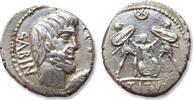 ROMAN REPUBLIC AR denarius 89 B.C. L. Titurius L.f. Sabinus, Rome - the death of Tarpeia - VF/VF+ so