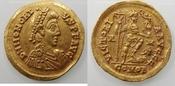 AV.solidus 404-416 AD Romeinse Rijk Honorius. mint Roma almost exf