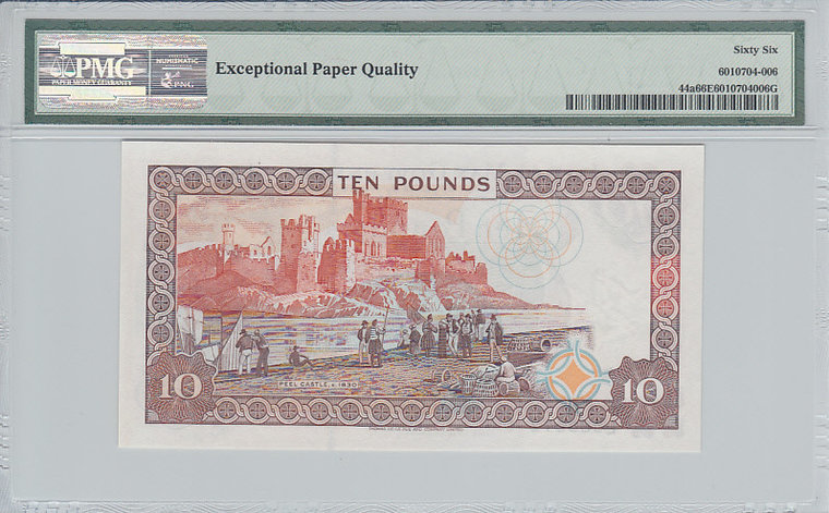 10 Pounds Isle of Man ISLE OF MAN P.44a - ND1998 PMG 66 EPQ PMG Graded 66 EPQ GEM UNCIRCULATED