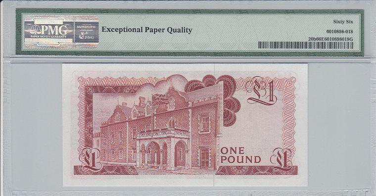 1 Pound 1979 Gibraltar GIBRALTAR P.20b - 1979 PMG 66 EPQ PMG Graded 66 EPQ GEM UNCIRCULATED