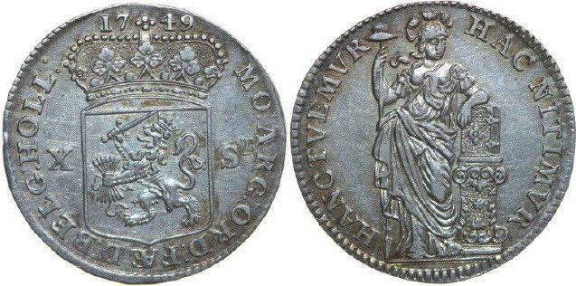 10 Stuiver 1749 Holland HOLLAND 1749