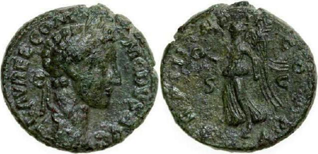 Æ As 177 - 192 AD Imperial COMMODUS Struck under Marcus Aurelius 177 - 192 AD. 9.86g. RIC 569 , Very Fine / Sehr Schön