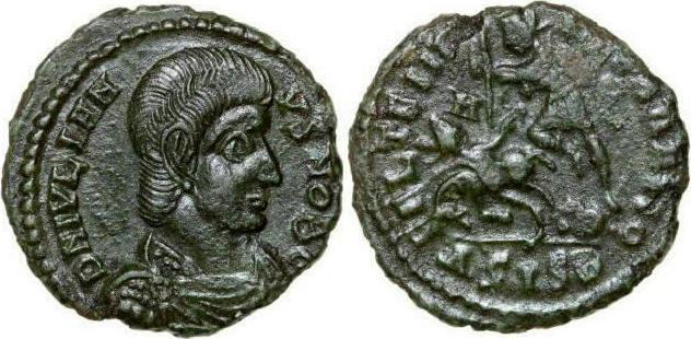 Centenionalis 360 - 363 AD Imperial JULIANUS II 360 - 363 AD. Half , 2.18g. RIC 374 Extremely Fine / Vorzüglich