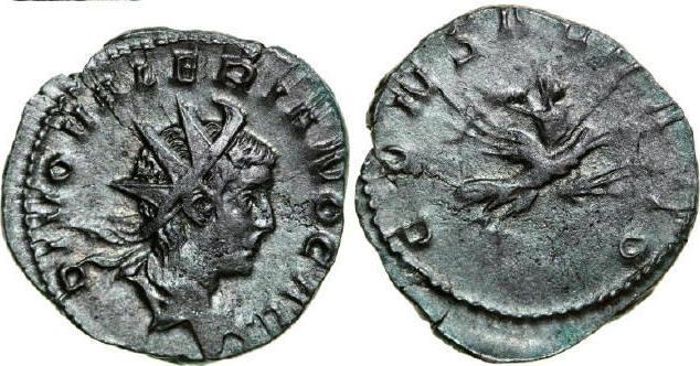 AR Antoninianus 256 - 259 AD Imperial VALERIANUS II Son of Valerianus I 256 - 259 AD. , 3.32g. RIC 9 Very Fine / Sehr Schön