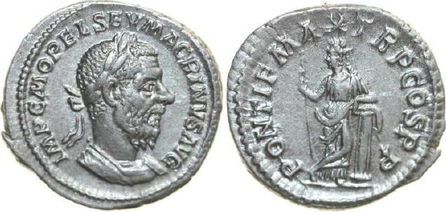 AR Denarius 217 - 218 AD Imperial MACRINUS 217 - 218 AD. , 3.18g. RIC 24 Near Extremely Fine / Fast Vorzüglich