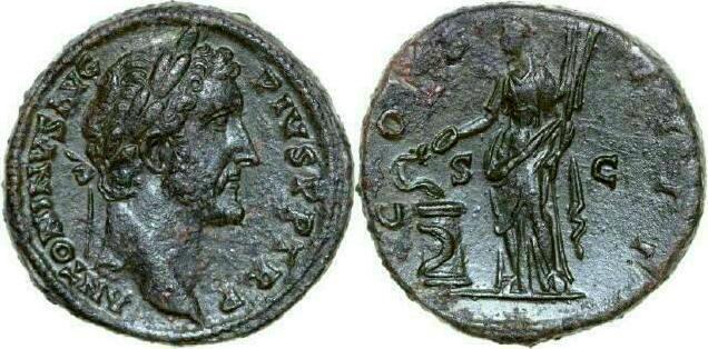 Sestertius 138 - 161 AD Imperial ANTONINUS PIUS 138 - 161 AD. , 29.03g. RIC 761 Good Very Fine / Gutes Sehr Schön