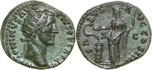 Æ Dupondius 117 - 138 AD Imperial ANTONINUS PIUS 117 - 138 AD. , 11.86g. RIC 894 Near Extremely Fine / Fast Vorzüglich
