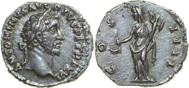 AR Denarius 138 - 161 AD Imperial ANTONINUS PIUS 138 - 161 AD. , 3.42g. RIC 219 Extremely Fine / Vorzüglich