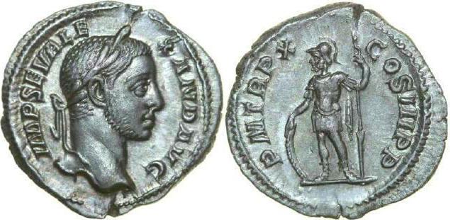 AR Denarius 222 - 235 AD Imperial SEVERUS ALEXANDER 222 - 235 AD. , 2.91g. RIC 108 Extremely Fine / Vorzüglich