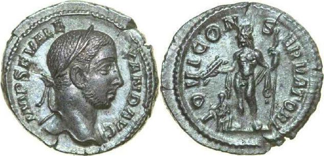 AR Denarius 222 - 235 AD Imperial SEVERUS ALEXANDER 222 - 235 AD. , 3.17g. RIC 200 Extremely Fine / Vorzüglich