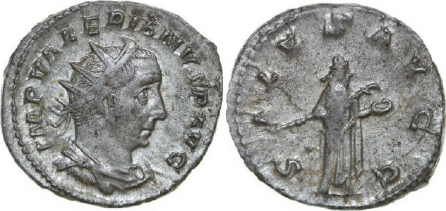 AR Antoninianus 253 - 260 AD Imperial VALERIANUS I 253 - 260 AD. , 3.93g. RIC 16 Near Extremely Fine / Fast Vorzüglich