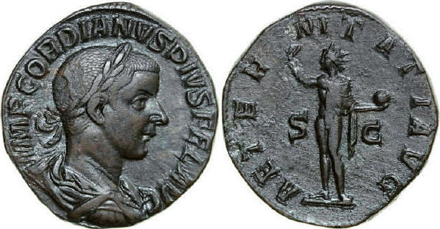 Æ Sestertius 238 - 244 AD Imperial GORDIANUS III 238 - 244 AD. , 20.99g. RIC 297a Near Extremely Fine / Fast Vorzüglich