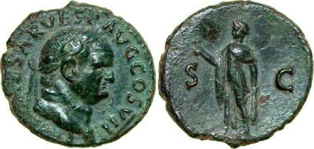 Æ As 69 - 79 AD Imperial VESPASIANUS 69 - 79 AD. , 9.76g. RIC 894 Very Fine / Sehr Schön