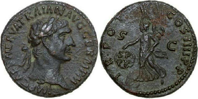 Æ As 98 - 117 AD Imperial TRAJANUS 98 - 117 AD. , 10.91 RIC 434 Extremely Fine / Vorzüglich