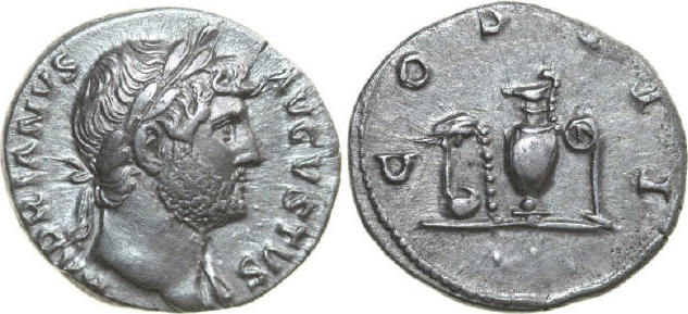 AR Denarius 117 - 138 AD Imperial HADRIANUS 117 - 138 AD. , 3.14g. RIC 198 Extremely Fine / Vorzüglich