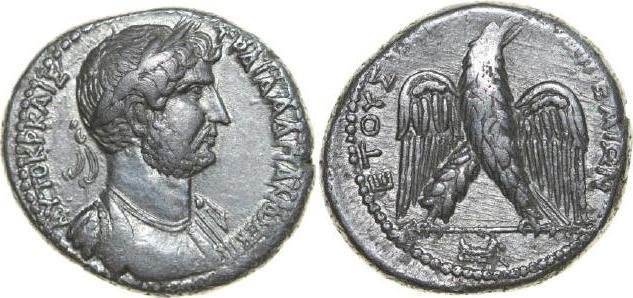 AR Tetradrachm 117 - 138 AD Provincial CILICIA - AEGEAE Hadrianus 117 - 138 AD. , 13.71g. Pr. 721 Good Very Fine / Gutes Sehr Schön