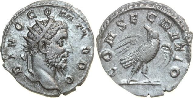 AR Antoninianus 177 - 192 AD Imperial COMMODUS Struck under Trajanus Decius 177 - 192 AD. , 3.38g. RIC 93 Extremely Fine / Vorzüglich
