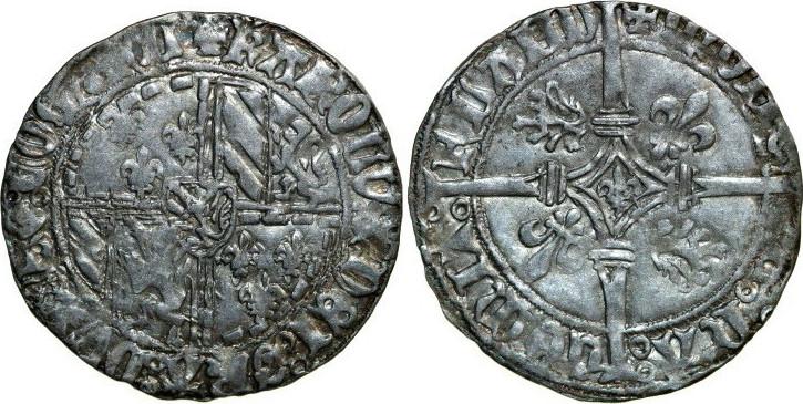 Dubbele Groot 1467 - 1477 Low Countries VLAANDEREN GRAAFSCHAP Karel de Stoute 1467 - 1477 Vierlander 2.86g. VanHoudt 33