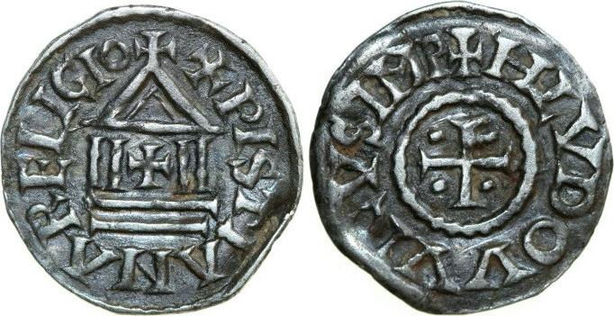 840 Denar 822 - 840 n. Chr. Carolingian CAROLINGIANS Louis I, the Pious 814 - 1.41g. M & G 472