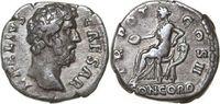 Imperial AR Denarius AELIUS 136 - 138 AD. , 3.10g. RIC 436 Good Very Fine / Gutes Sehr Schön