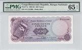 500 Francs 1961 Congo Dem Rep. CONGO DEM. REP. P.7a -  1961 PMG 65 EPQ ... 500,00 EUR envoi gratuit