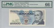 000 Zlotych 1990 Poland POLAND P.154a - 100. 1990 PMG 66 EPQ PMG Graded... 80,00 EUR64,00 EUR  zzgl. 12,00 EUR Versand
