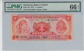 1 Lempira 1974 Honduras HONDURAS P.57 -  1974 PMG 66 EPQ PMG Graded 66 ... 50,00 EUR  zzgl. 12,00 EUR Versand