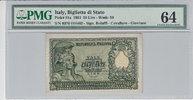 50 Lire 1951 Italy ITALY P.91a -  1951 PMG 64 PMG Graded 64 GEM UNCIRCU... 100,00 EUR  + 12,00 EUR frais d'envoi