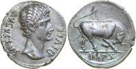 AR Denarius 27 BC Imperial AUGUSTUS 27 BC....