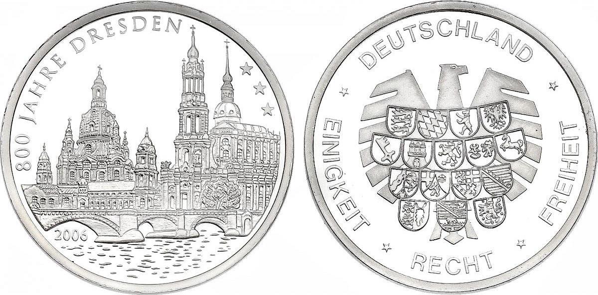 Medaille Versilbert 2006 Deutschland 800 Jahre Dresden