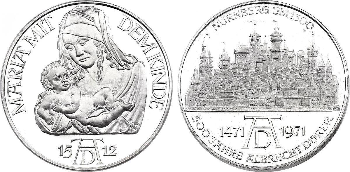 Ag Medaille 1971 Deutschland Nürnberg Serie Quot500 Jahre