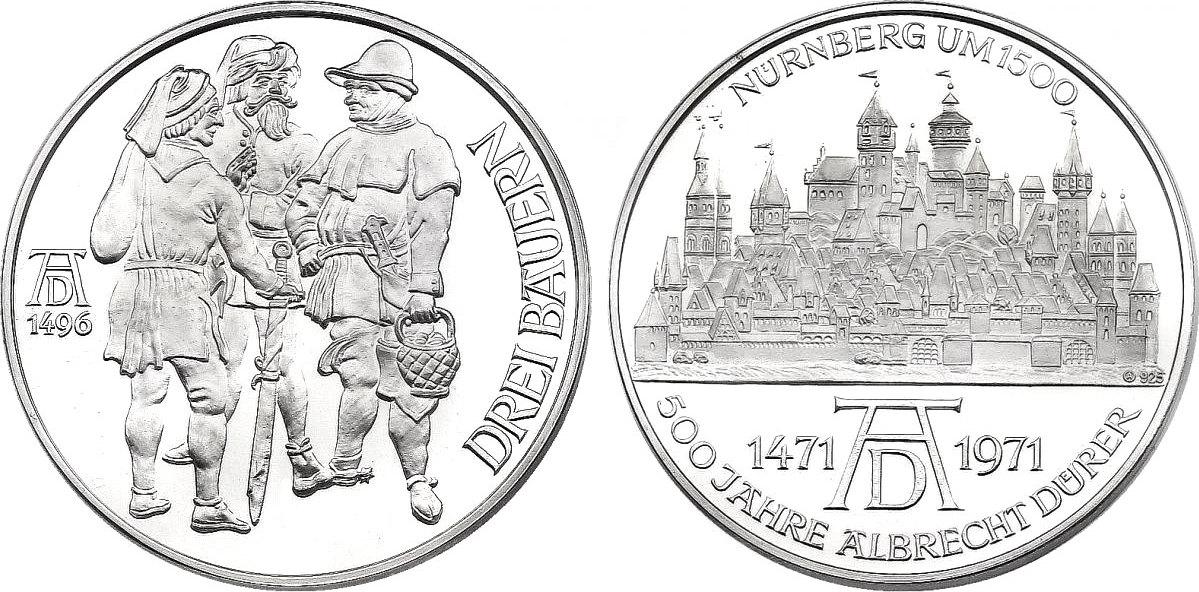 Ag Medaille 1971 Deutschland Nürnberg Serie 500 Jahre Albrecht