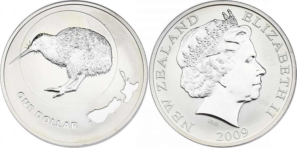 Dollar 2009 Neuseeland Kiwi Dollar unc. in Plastikhülle