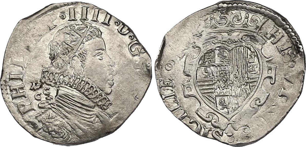 Tari ? MCC Neapel Italien - Neapel und Sizielien Philipp IV. (1621 - 1665) nicht vollst. ausgeprägt, f.stgl.