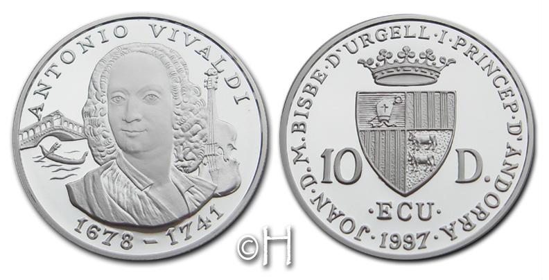 10 Diners 1997 Andorra Komponist Antonio Vivaldi (1678 - 1741) pp.