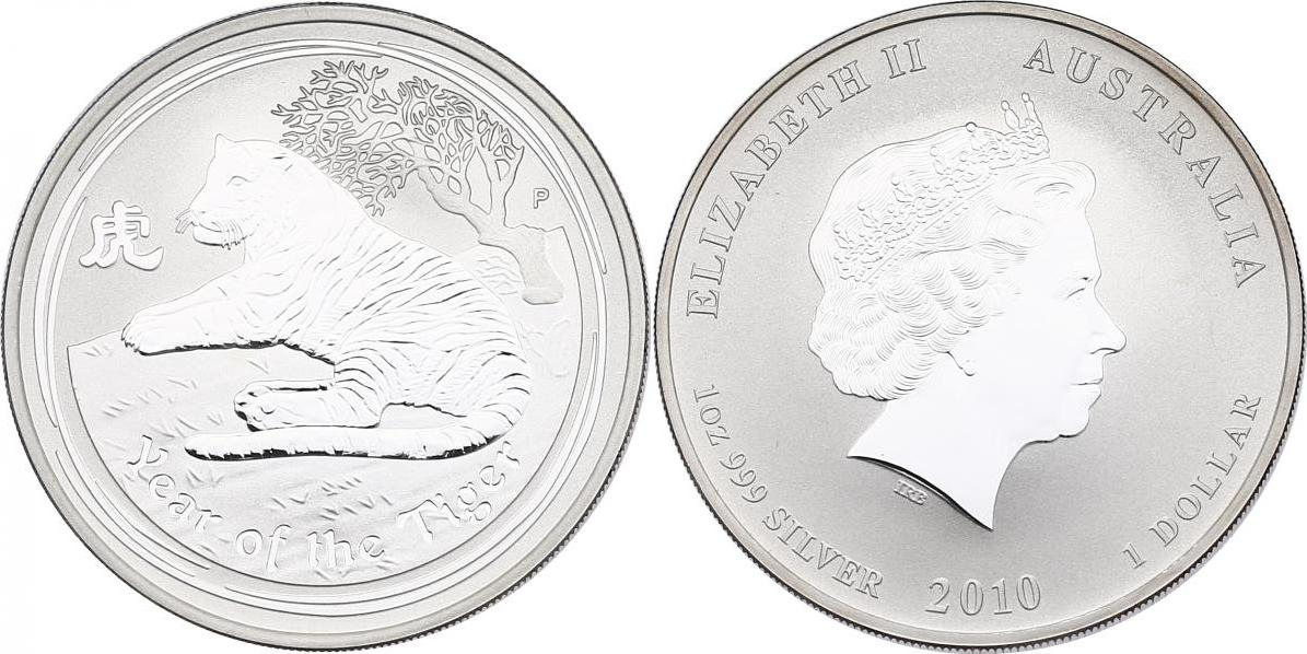 Dollar 2010 Australien Lunar Serie Jahr des Tigers unc.