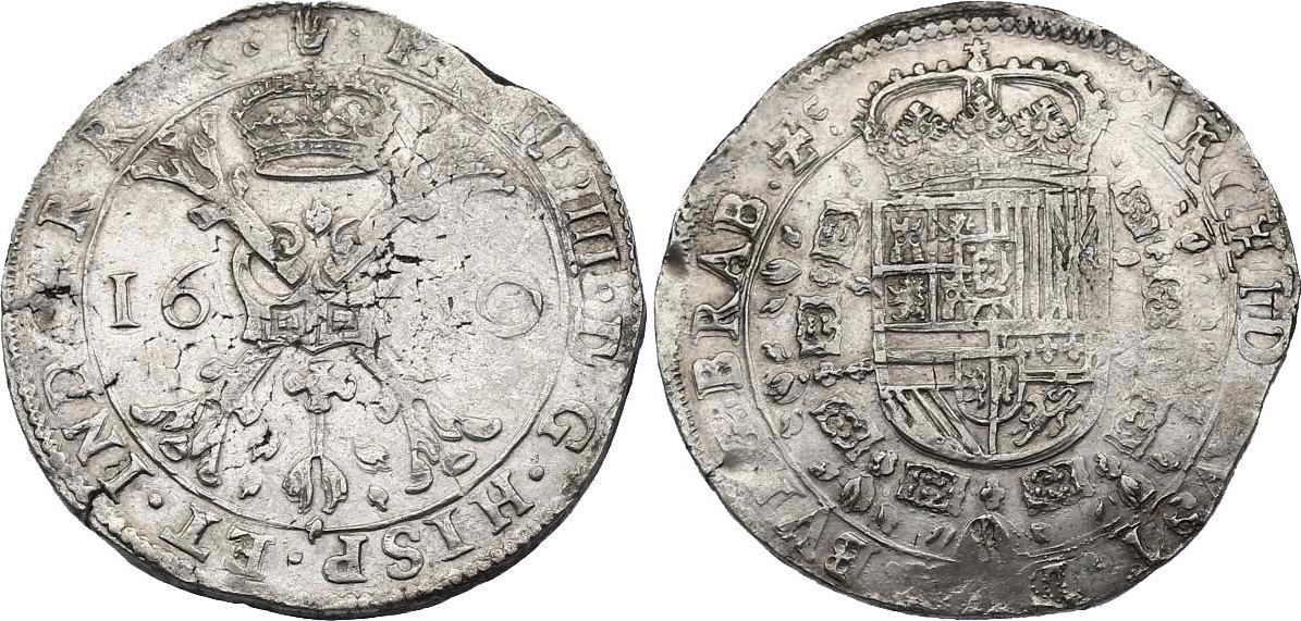 Taler 1630 Spanische Niederlande - Brabant Philipp IV. (1621 - 1665) ss