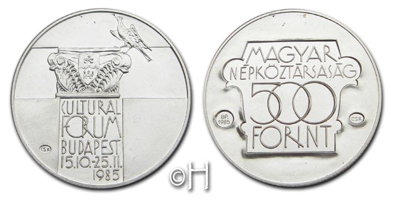 500 Forint 1985 Ungarn Kulturforum Budapest 15.10 - 25.11 1985 stgl.