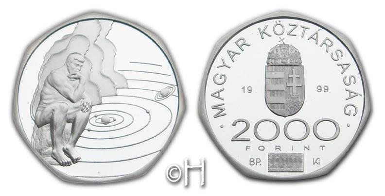 2000 Forint 1999 Ungarn Der Denker pp.