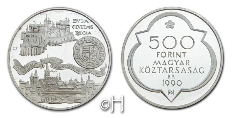 500 Forint 1990 Ungarn Zwei Residenzen pp.