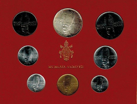 KMS (Lira - 500 Lire) 1969 Vatikan Paul VI. (1963 - 1978) stgl.