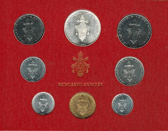 KMS (Lira - 500 Lire) 1977 Vatikan Paul VI. (1963 - 1978) stgl.