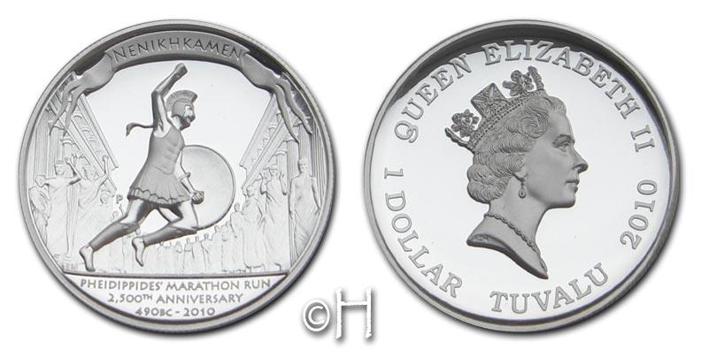 Dollar 2010 Tuvalu Schlacht von Marathon pp.