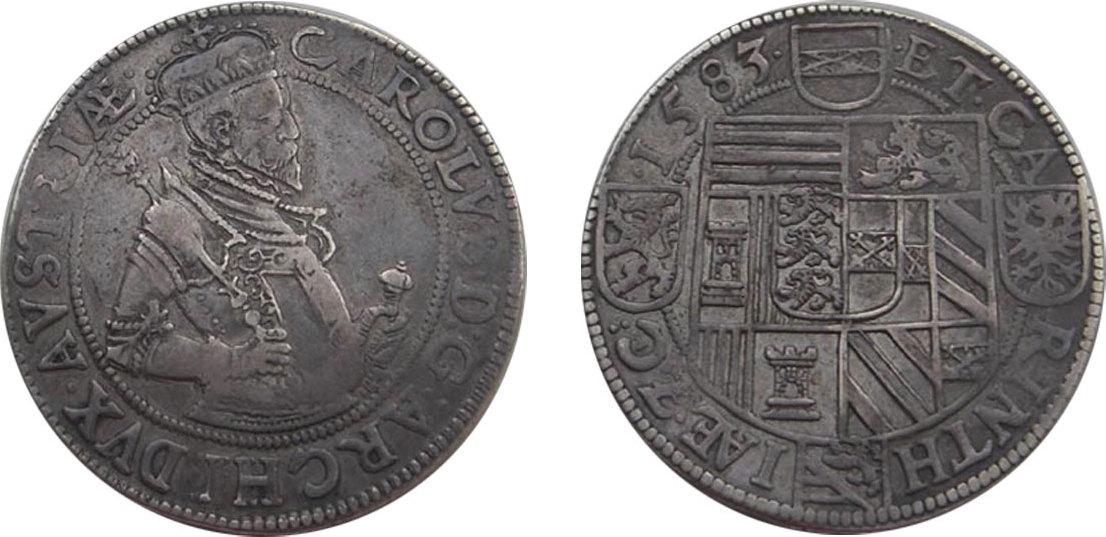 Taler Klagenfurt 1583 RDR Erzherzog Karl (1564 - 1590) ss/f.vz, R