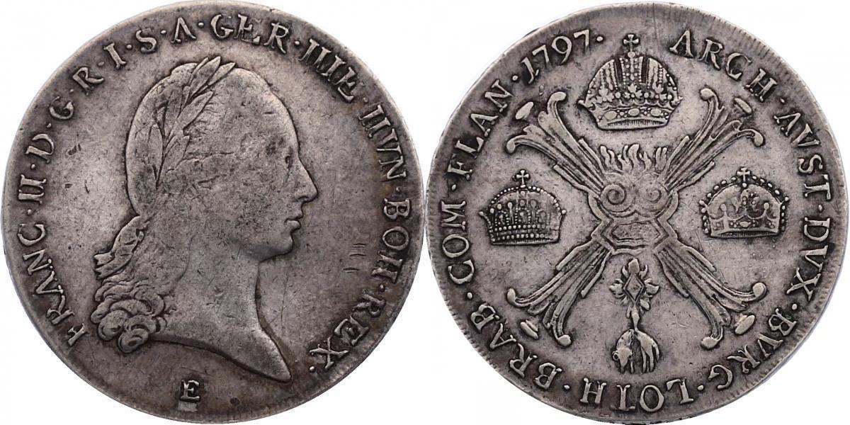 Kronentaler 1797 E RDR Franz II./I. (1792 - 1830) f.ss/ss, R