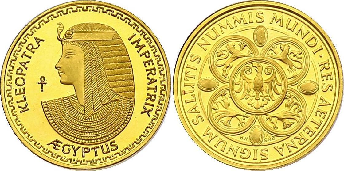 "Au-Medaille o.J. Ägypten ""Kleopatra"" pp"