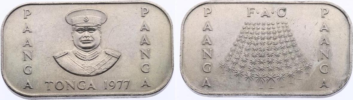 """Pa'Anga 1977 Tonga Serie """"FAO"""" unc."""