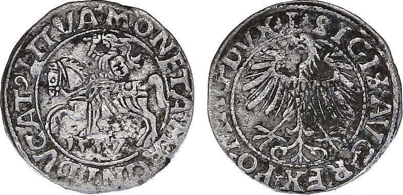 1/2 Groschen 1557 Litauen Sigismund August (1545 - 1572) ss
